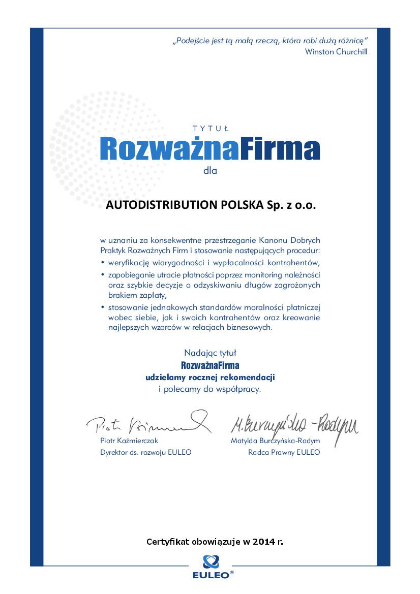 AUTODISTRIBUTION POLSKA Sp. z o.o.