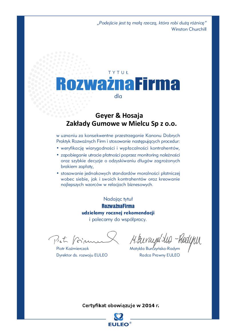 Geyer & Hosaja Zakłady Gumowe w Mielcu Sp z o.o.