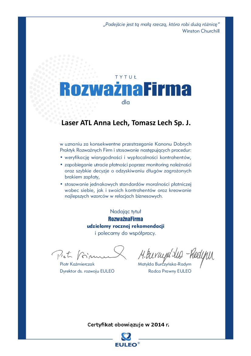 Laser ATL Anna Lech, Tomasz Lech Sp. J.